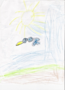 """Bird in the Sun"" M.M. Age 5"